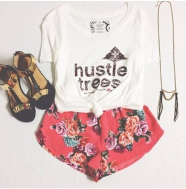 shorts flowered shorts gold plated shoe indie shirt shoes gold black cute fashion