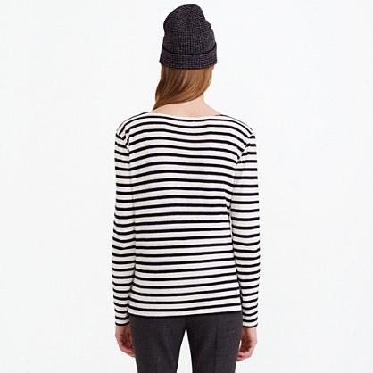 Oversize stripe long-sleeve tee