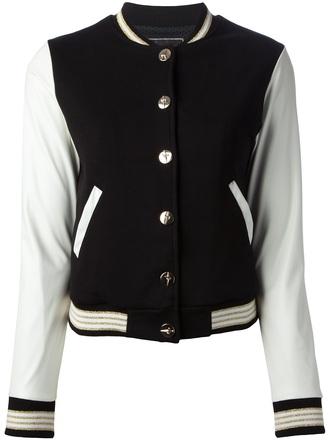 jacket paciotti for us bi-colour varsity jacket