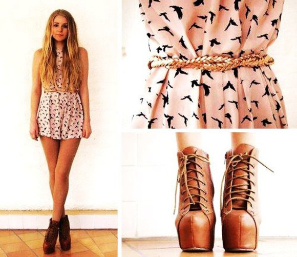 peach boots with laces peach dress