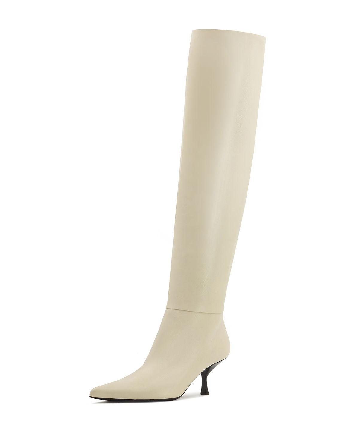 fa223fdd20a78 The Row - White Bourgeoise Leather Knee Boots - Lyst