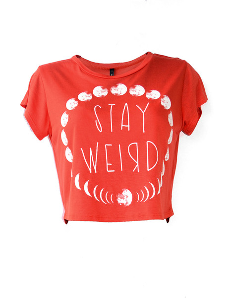 Stay Weird Crop Top