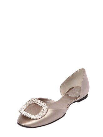 flats satin pearl shoes