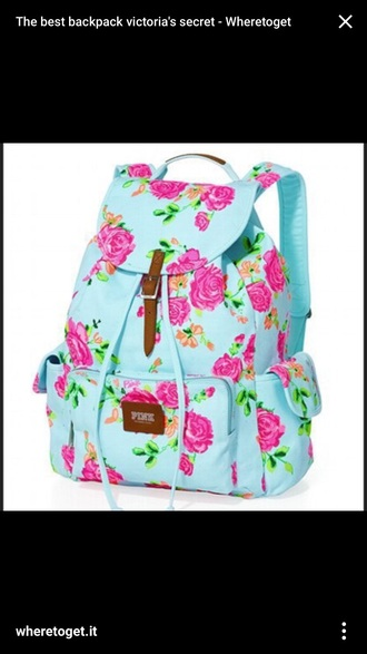 bag girly floral printed colorful lovely beauty bag bags for back to school pretty