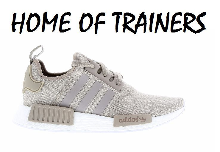 Adidas NMD R1 Knit Vapour Grey-White Women\u0027s Girls Trainers All Sizes  (BA7477)