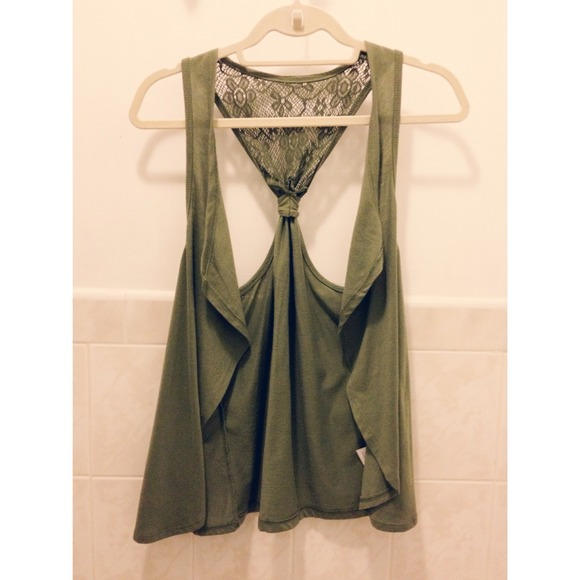 Olive Green Sleeveless Cardigan S from Ana's closet on Poshmark