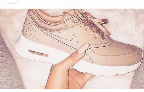 Shoes Rose Gold Nike Wheretoget