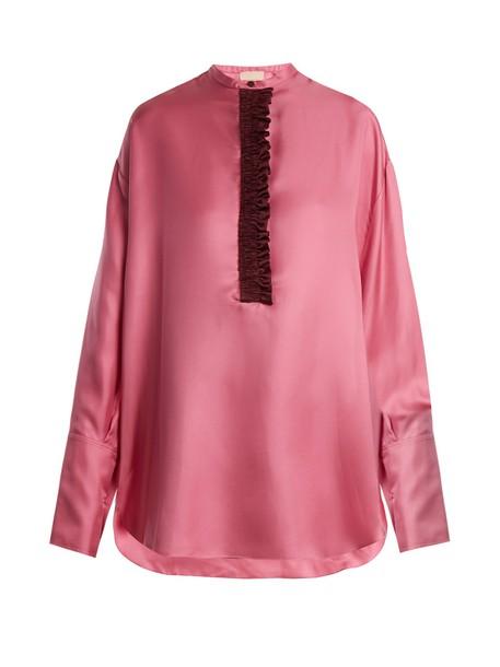 Roksanda shirt silk pink top