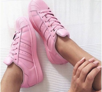 shoes light pink adidas adidas supercolor