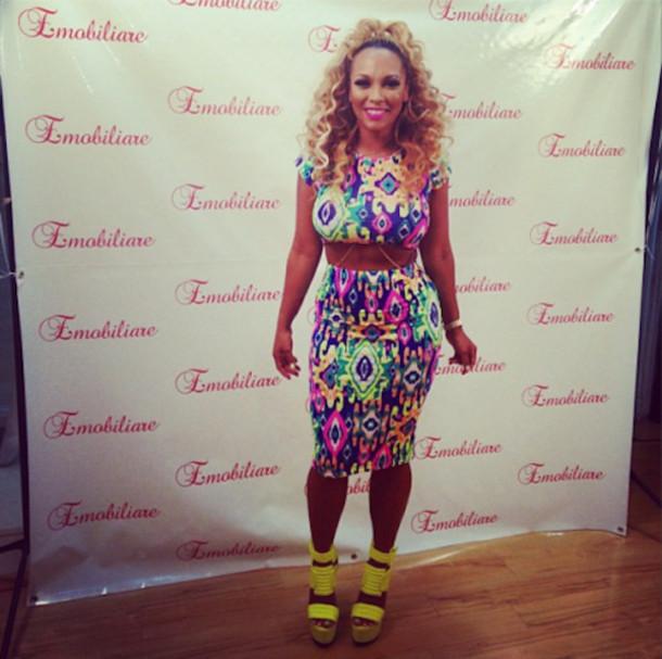 62ae5781675e dress female bodycon dress two-piece sexy dress colorful dress neon dress  midi dress midi