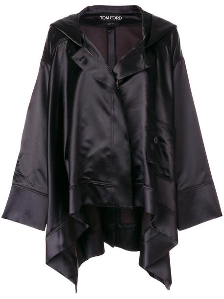 Tom Ford coat women black silk wool