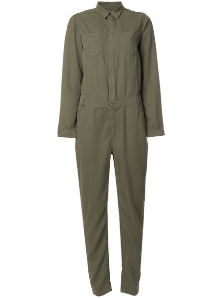 Cotélac - buttoned jumpsuit - women - Lyocell - 2, Green, Lyocell