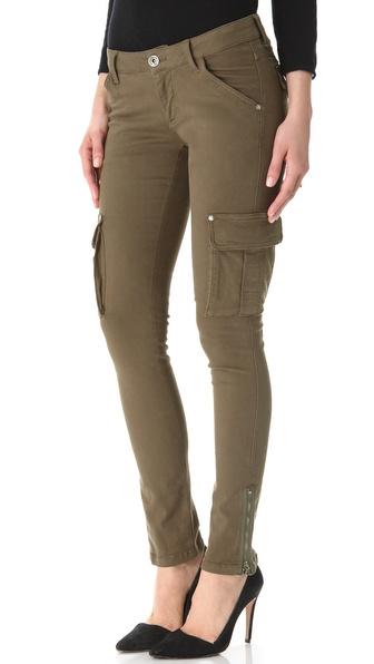 Alice   olivia washed skinny cargo jeans