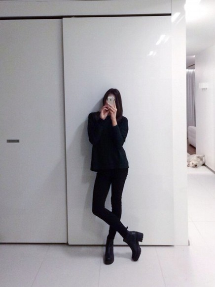 shoes high heels boots, black, chunky , ankle, high, heeled , ankle boot, chelsea boot chuncky heels black boots