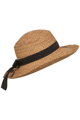 Natural wide brim boater