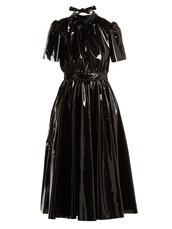 dress,midi dress,bow,back,midi,black