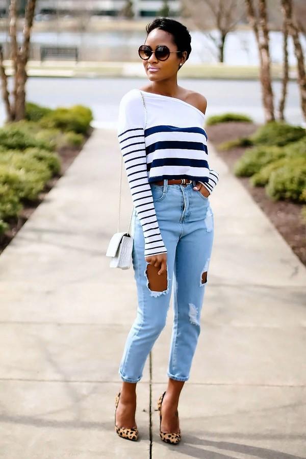 the daileigh t-shirt jeans shoes bag belt sunglasses