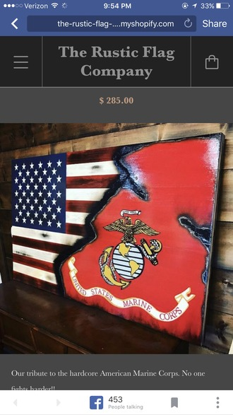 home accessory usmc red white and blue ega eagle globe and anchor usmc gear accessories american flag
