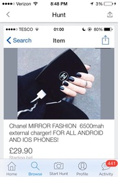 home accessory,portable charger,chanel,chanel portable charger,portable charger in india,starbucks portable charger