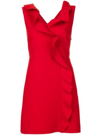 dress sleeveless dress sleeveless ruffle women spandex red