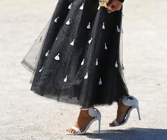 skirt maxi skirt black skirt tulle skirt