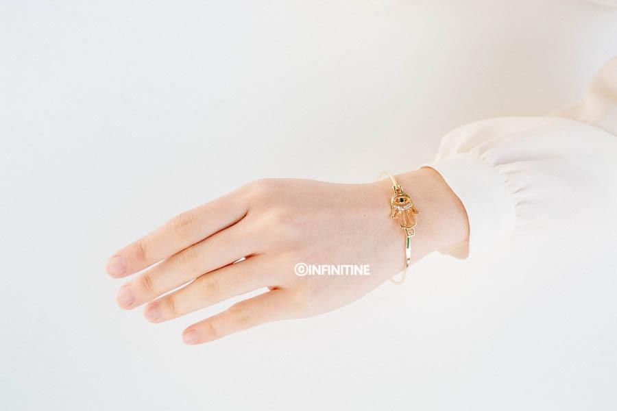 Hamsa bangle bracelet,, BR2308