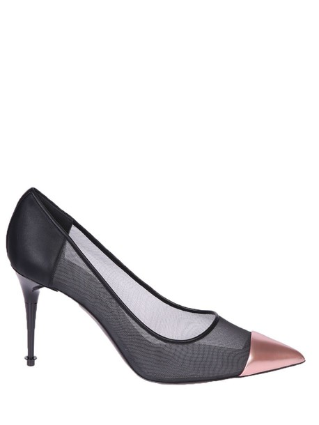 Tom Ford mesh pumps leather black shoes