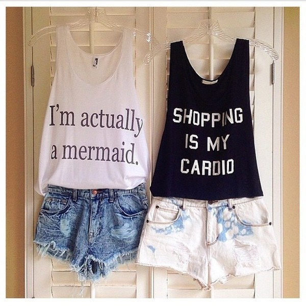 shirt t-shirt mermaid shorts