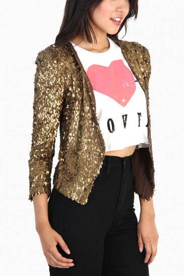 LoveMelrose.com From Harry & Molly | SEQUIN JACKET