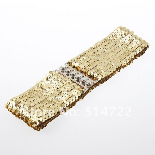 10Pcs Shiny Paillette Buckle Elastic Dress Blouse Cinch Sequin Waist Belt Waistband DropShipping-in Belts & Cummerbunds from Apparel & Accessories on Aliexpress.com | Alibaba Group