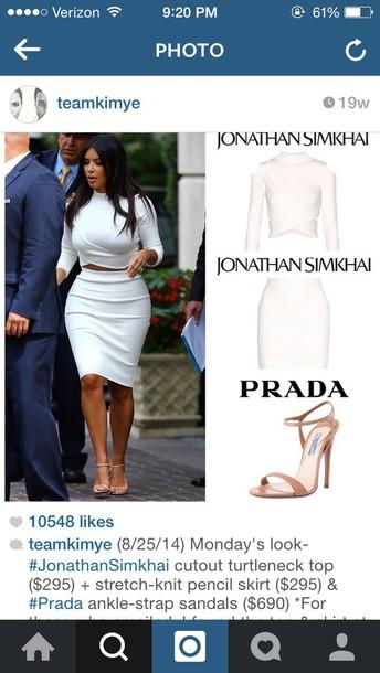 blouse kim kardashian skirt
