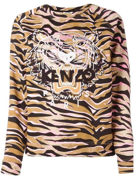 sweatshirt women tiger cotton brown sweater