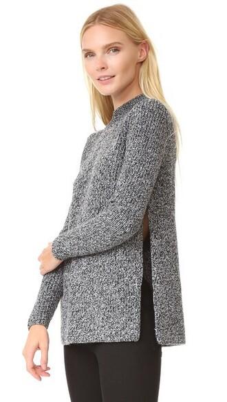 sweater white black