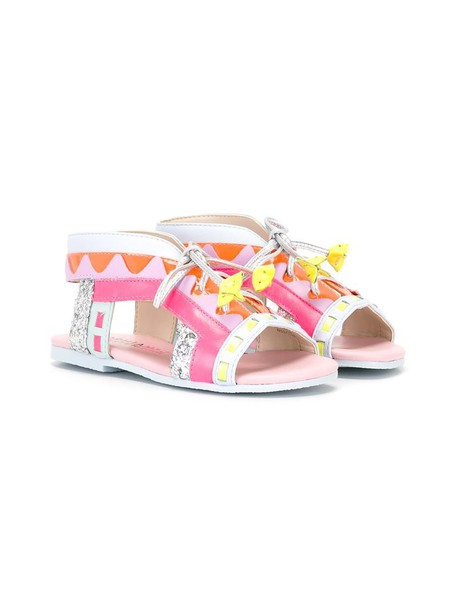 Sophia Webster Mini sandals leather purple pink shoes