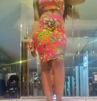 dress 2 piece skirt set 2piece dress 2piece set 2piece skirt set skirt top floral dress floral tank top floral skirt sexy dress sexy party dresses midi skirt bodycon dress bodycon clubwear club dresses streetwear spring dress hawaiian