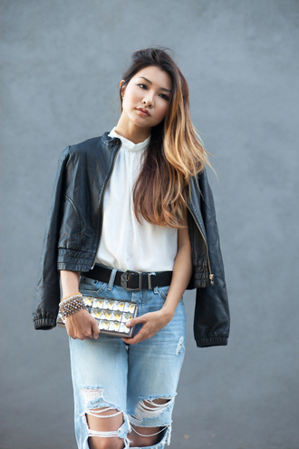 atsuna matsui atsuna matsui » blogger top jeans belt bag jacket