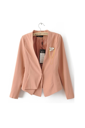 Simple Style Pure Color Blazer with Wrinkle [FFBI0238]- US$28.06 - PersunMall.com