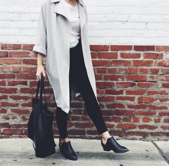 jacket asymmetrical grey coat trench coat