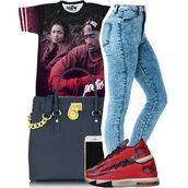 t-shirt,tupac,handbag,blouse