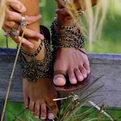 shoes,jewels,sandals,boho,hippie,hobo chic,hobo,bronze,copper,feet