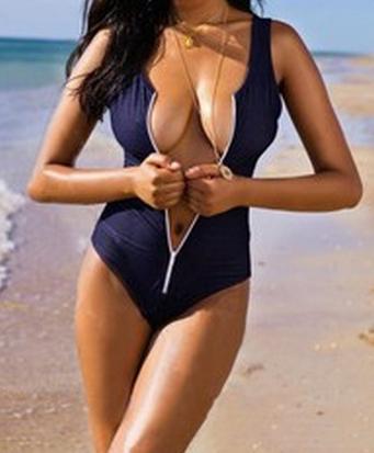 Sexy Zipper Swimsuit - Juicy Wardrobe