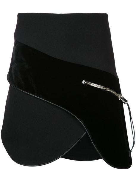 Christopher Esber skirt mini skirt mini women spandex pistol black silk