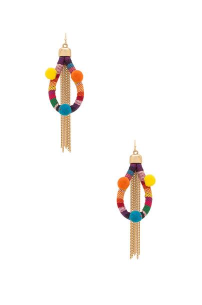 Ettika earrings red jewels