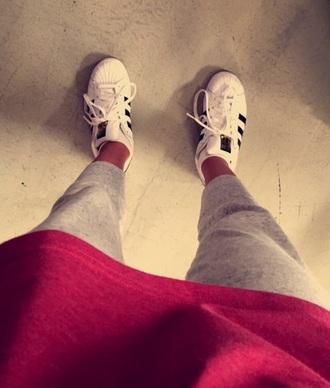 shoes adidas superstar sweatpants