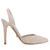 Bgo & me: Zapatos de tacón destalonados en ante rosa empolvado