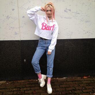 kayla hadlington blogger jeans socks hoodie cropped sweater
