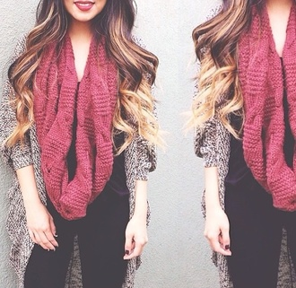 cardigan cute outfit scarf