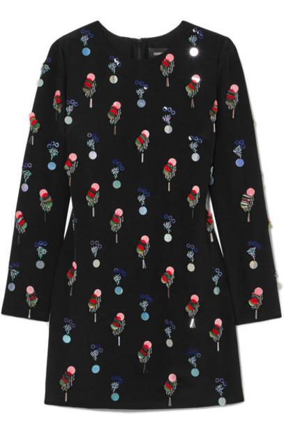 cushnie et ochs dress mini dress mini embellished black silk