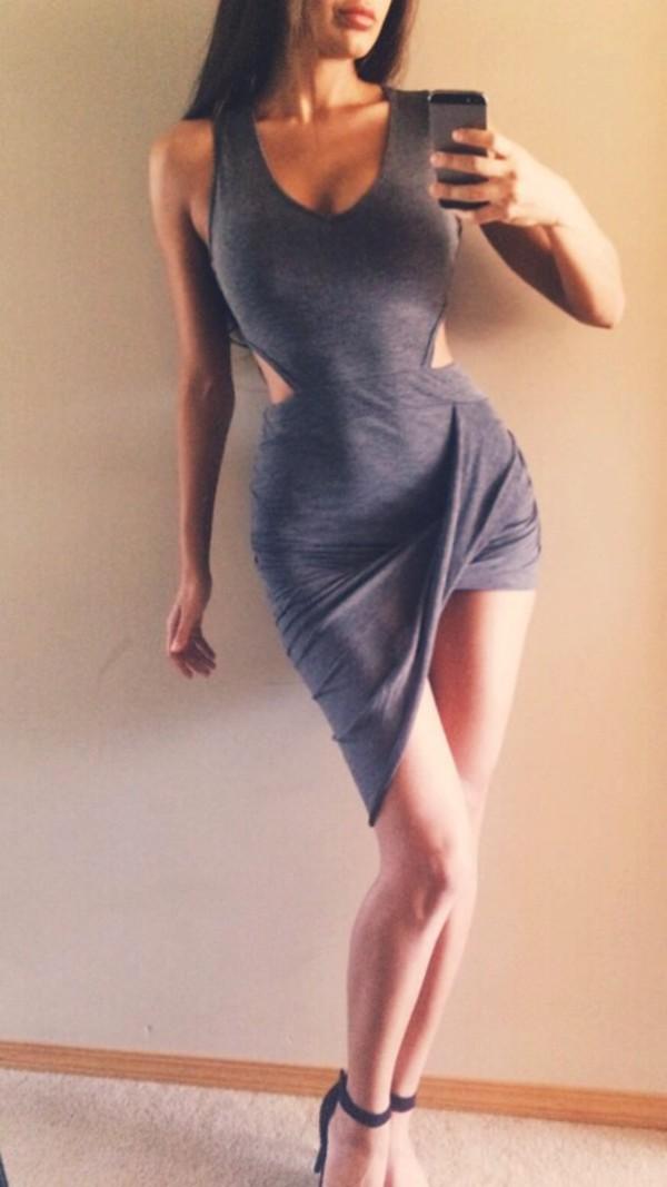 draped dress draped dress cut-out cut-out dress cut out drape dress asymmetrical drape dress asymmetrical dress asymmetircal draped dress grey dress draped cut out dress