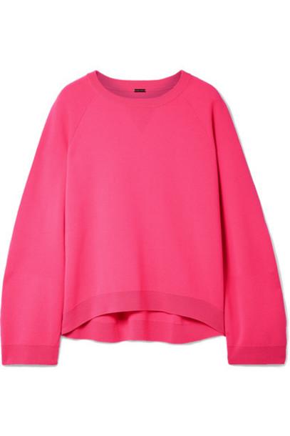 sweater wool sweater oversized wool pink bright